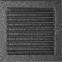 Решетка KRATKI чёрное серебро (покрашенная) 22х22 см с жалюзями