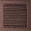 Решетка KRATKI медная (покрашенная) 22х22 см с жалюзями