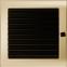 Решетка KRATKI позолоченная 22х22 см c жалюзями