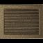 Решетка KRATKI чёрное золото (покрашенная) 22х30 см с жалюзями